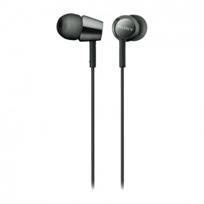 Sony MDR-EX155 In-Ear Headphones MDR-EX155/Black (Original) 1 Year Warranty By Sony Malaysia