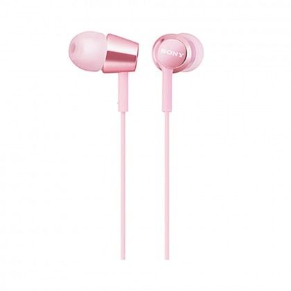 Sony MDR-EX155AP Pink In-Ear Headphones with Mic MDR-EX155AP/P (Original)1 Year Warranty By Sony Malaysia