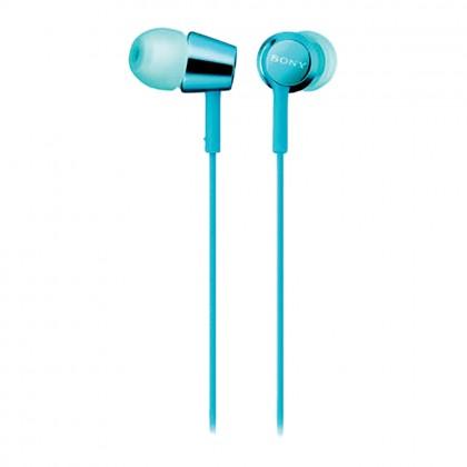 Sony MDR-EX155 In-Ear Headphones MDR-EX155/Light Blue (Original) 1 Year Warranty By Sony Malaysia