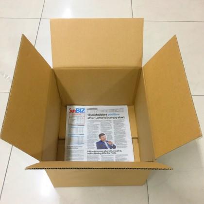 Used Empty Boxes / Corrugated Shipping Carton Boxes 5Pcs (39 X 35 X 26 cm)