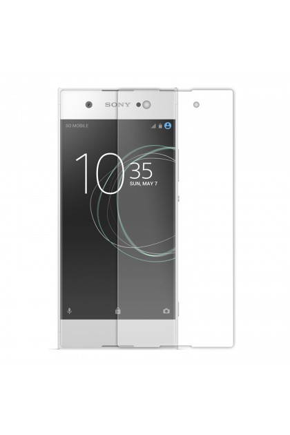 (2 in 1) Sony Xperia XA1 Clear Transparent Crystal TPU Silicone Case Cover + Clear Screen Protector (Original)