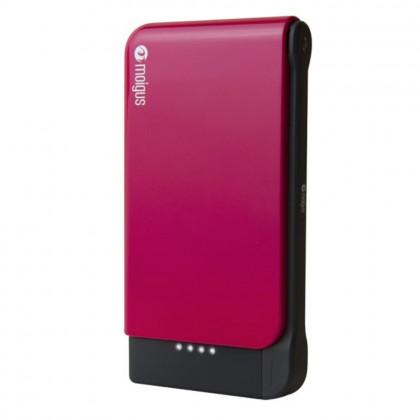 (DISPLAY) Moigus 8100mAh Power Bank Pink Colour (Original)