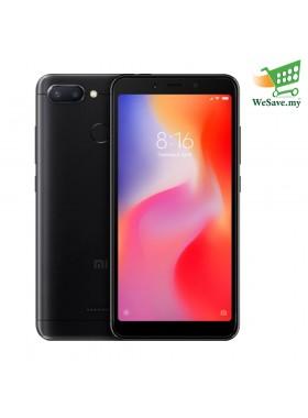 Xiaomi Redmi 6 Smartphone 3GB RAM 32GB Black Colour (Original) 1 Year Warranty By Mi Malaysia