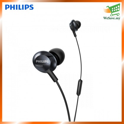 Philips PRO6305 Hi-Res Audio High-Res in-Ear Headphones with Mic PRO6305BK Black Color (Original)  1 Year Warranty by Philips Malaysia