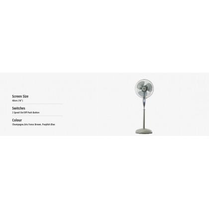 "Panasonic F-MX405 Stand Fan 40cm (16"") (Original) 1 Years Warranty By Panasonic Malaysia"