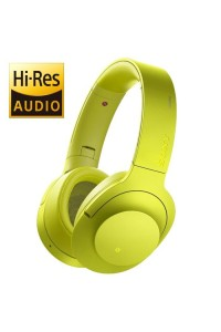 *Display Unit* Sony MDR-100ABN Yellow h.ear on Wireless NC Headphones High-Resolution Audio MDR-100ABN/Y (Original) from Sony Malaysia